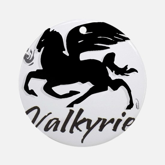 VALKYRIE_new_font_NEG_02 Round Ornament