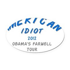 American_Idiot Oval Car Magnet