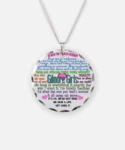 gilmoregirlscollagebutton Necklace Circle Charm