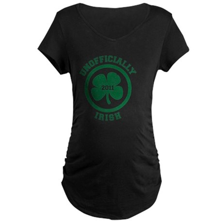 UnofficiallyIrish_shirt_gre Maternity Dark T-Shirt