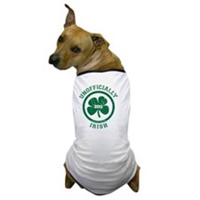 UnofficiallyIrish_shirt_green Dog T-Shirt
