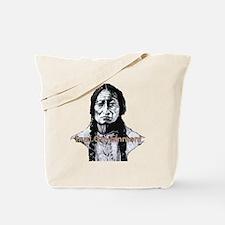 Sitting Bull Dark with huge cleanwigrn9 Tote Bag