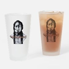 Sitting Bull Dark with huge cleanwi Drinking Glass