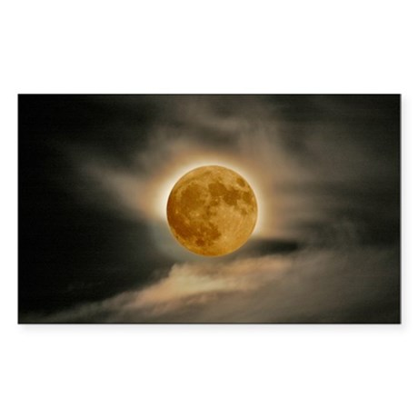 large MOON poster Sticker (Rectangle)