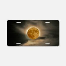 large MOON poster Aluminum License Plate