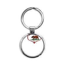 IHCBneg Round Keychain