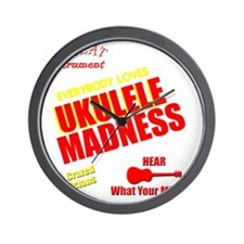 funny ukulele madness uke design Wall Clock