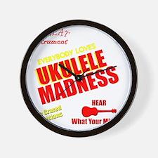 funny ukulele madness uke design Wall Clock