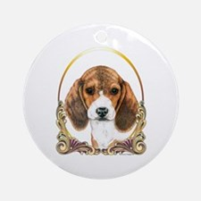 Beagle Christmas/Holiday Ornament (Round)