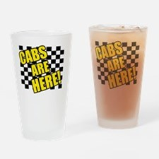 cabsarehereblack Drinking Glass