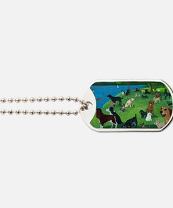 Sunday in the Park card Dog Tags