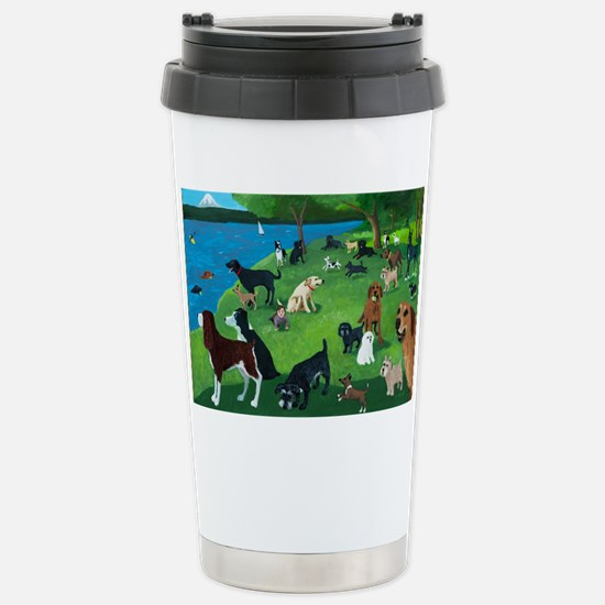 Sunday in the Park card Stainless Steel Travel Mug