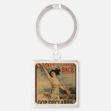 fight back cafe press Square Keychain