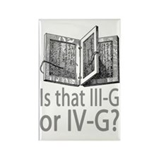 3G or 4G English Rectangle Magnet