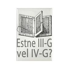3G or 4G Latin Rectangle Magnet