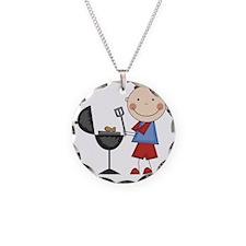SCRAPBOYBBQ Necklace Circle Charm