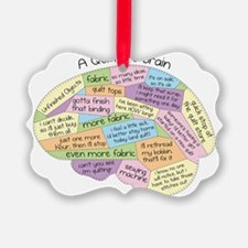 Quilters Brain2 Picture Ornament