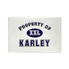 Property of karley Rectangle Magnet