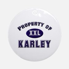 Property of karley Ornament (Round)