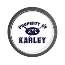 Property of karley Wall Clock