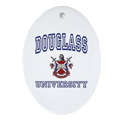 DOUGLASS University Oval Ornament