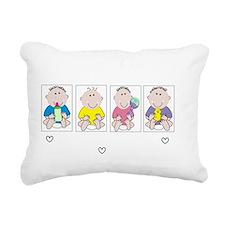 Nicu Nurse 4 babies DARK Rectangular Canvas Pillow
