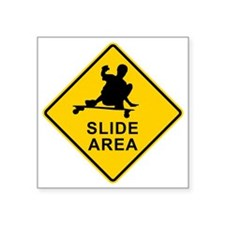 "slide area 1 Square Sticker 3"" x 3"""