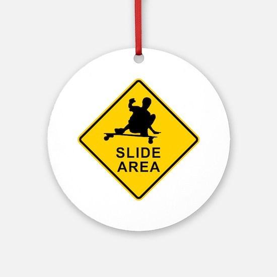 slide area 1 Round Ornament