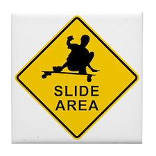 slide area 1 Tile Coaster