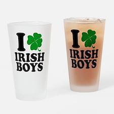 Irish Boys Drinking Glass