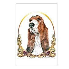 Basset Hound Christmas/Holiday Postcards (Package