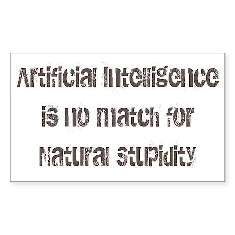 artiicial intelligence Sticker (Rectangle)