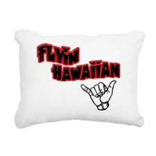 flyin-blackred Rectangular Canvas Pillow