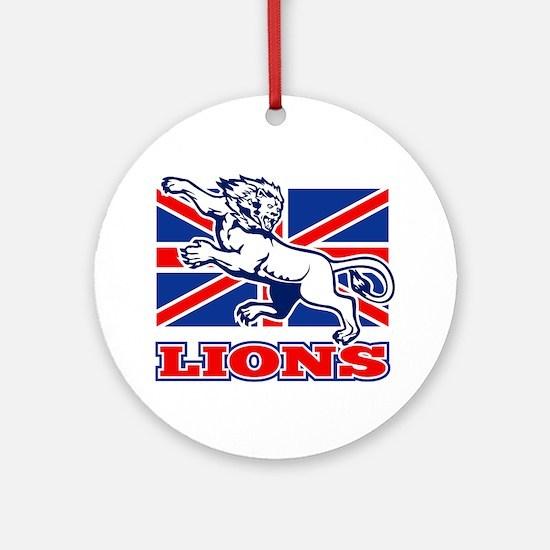 British Lion rugby  attacking  unio Round Ornament