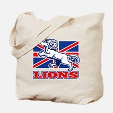 British Lion rugby  attacking  union jack Tote Bag
