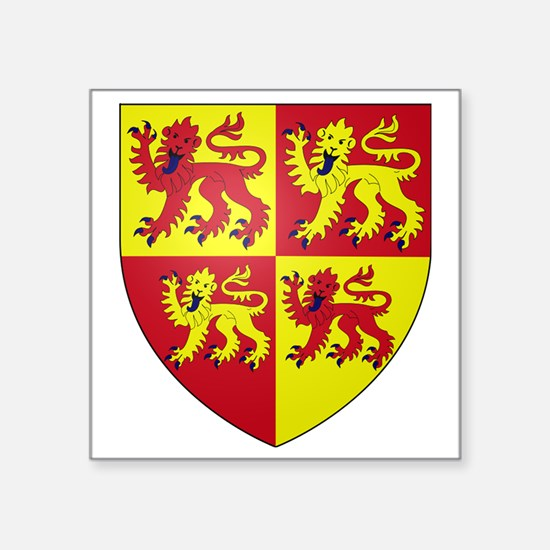 """wales coat of arms Square Sticker 3"""" x 3"""""""