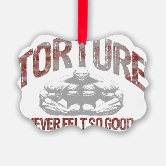 torture bodybuilding blk Ornament