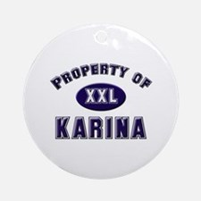 Property of karina Ornament (Round)