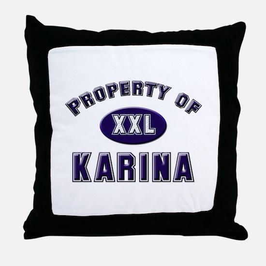 Property of karina Throw Pillow