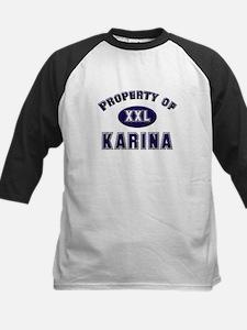 Property of karina Kids Baseball Jersey