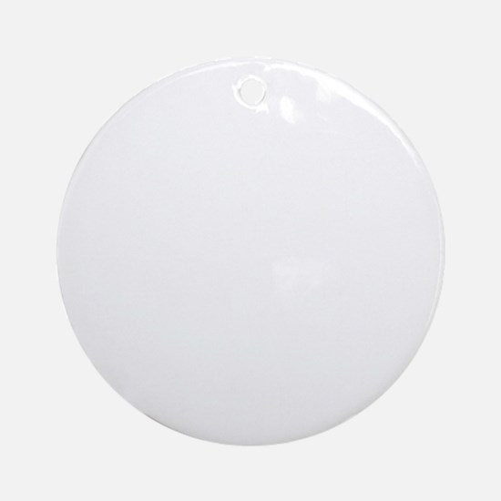 thirteen point freaking one white Round Ornament
