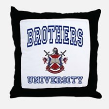 BROTHERS University Throw Pillow