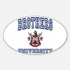 BROTHERS University Oval Decal