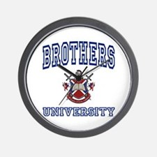 BROTHERS University Wall Clock