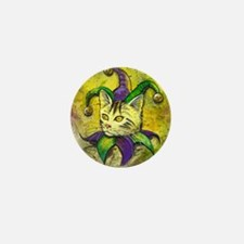 Mardi Gras Jester Kitty Mini Button