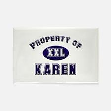 Property of karen Rectangle Magnet