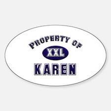 Property of karen Oval Decal