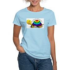 Women's Pink Gay Pride Turtle T-Shirt