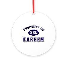 Property of kareem Ornament (Round)