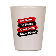 No Jesus - No Peace Shot Glass